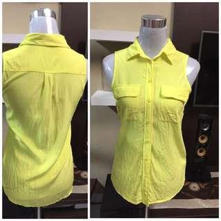 silk sleeveless top s-m