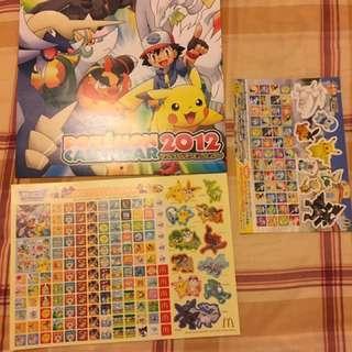 🚚 Pokemon月曆(2012年日本麥當勞限定)