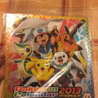 🚚 Pokemon月曆(2013年日本麥當勞限量版)