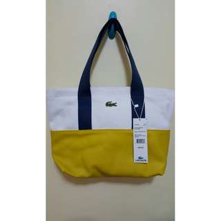Yellow Lacoste Bags (w/ Free Face Mask or Make-up Blender)