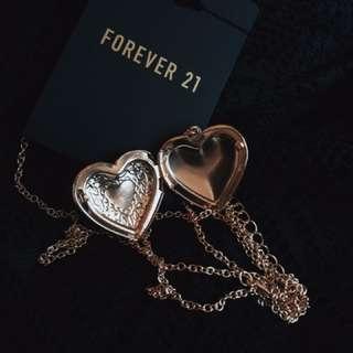 F21 Locket Necklace