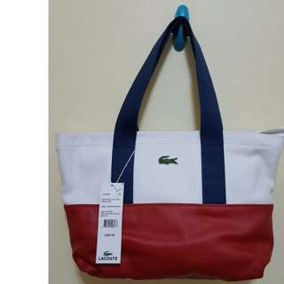 Red Lacoste Bags (w/ Free Face Mask or Make-up Blender)