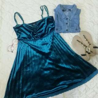 Enchanted blue satin dress