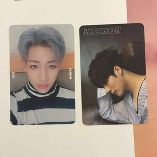 [ WTT ] GOT7 bambam and jackson 7for7 photocards