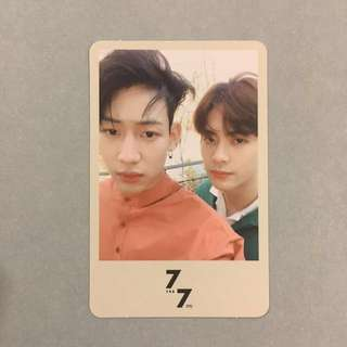 [ WTT ] GOT7 JACKBAM 7for7 present edition unit card