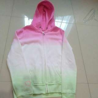 Kids Pink and Green Ombré Hoodie