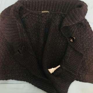 🚚 Sisley 專櫃針織披肩外套 斗篷披風
