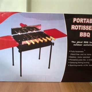 Portable rotisserie bbq