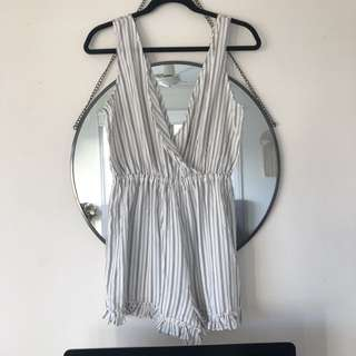 VALLEY GIRL Striped Playsuit