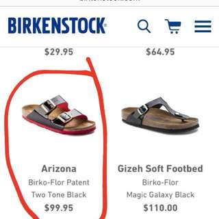 Auth Birkenstock from Germany (red/black)
