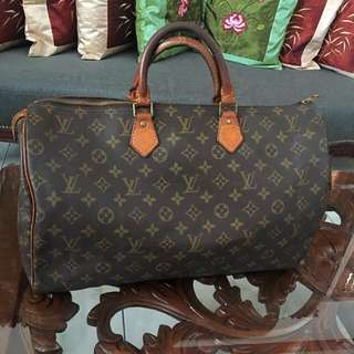 Authentic Louis Vuitton Monogram Canvas Speedy 40