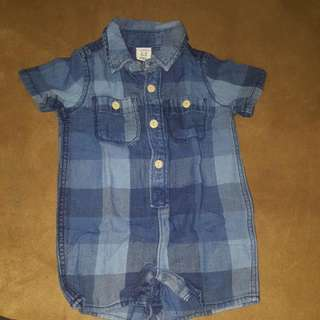 baby gap rompers jeans