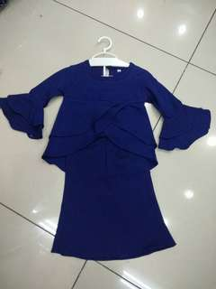 Peplum double layer