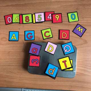 Children's magnetic alphabet and numbets