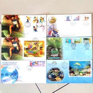 First Day Cover Year 2001