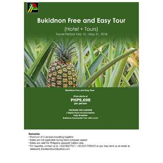 Bukidnon Free and Easy Tour