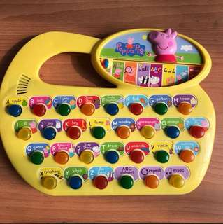 Peppa Pig alphabet learner with music