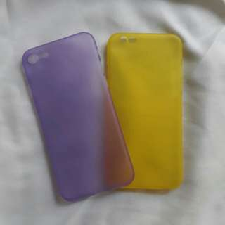 iPhone 7 (Violet) and 6 (Yellow) Phone Case