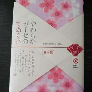 日本製櫻花軟紗手帕/毛巾