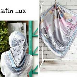 square motif scarf