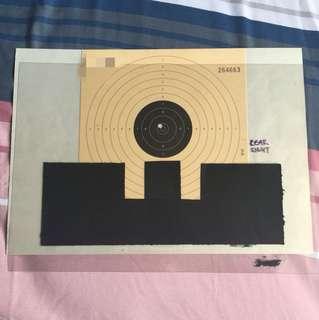 Air Pistol Sight Alignment Diagram Aid