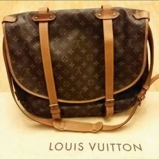 95新 正版 LV Louis Vuitton 大袋 有肩帶 45cm