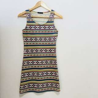 Aztec Printed Dress by Chic Booti