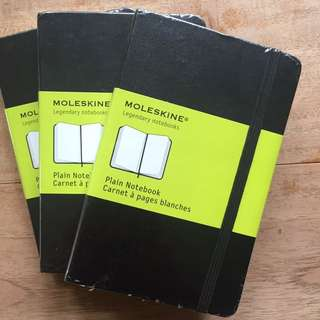 Moleskin Plain Notebook Hardcover Small x 3