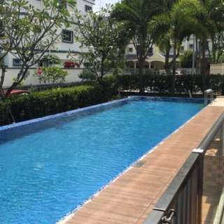 2 bedder almost new condo rent - walking distance to mrt