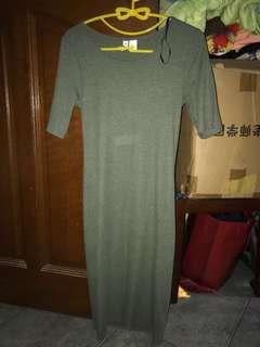 Green Cotton On Dress bodycon