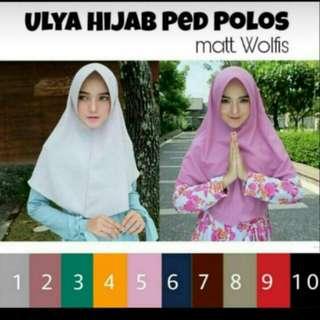 Ulya hijab Ped Polos