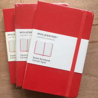 Moleskin Ruled Notebook Hardcover Small x 3
