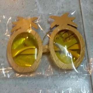 無度數鏡片菠蘿眼鏡