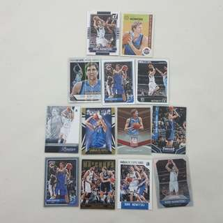 Legit Used Dirk Nowitzki Lot Set Of 13 NBA Cards