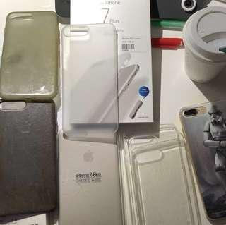 iPhone 7 / 8 Plus 原廠 皮 膠 保護套