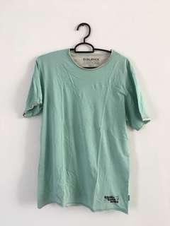 Kaos baju tshirt baleno tosca hijau lengan pendek L