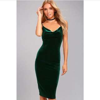 Addison velvet dress