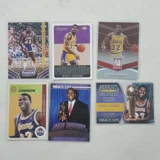 Legit Used Magic Johnson Lot Set Of 6 NBA Cards