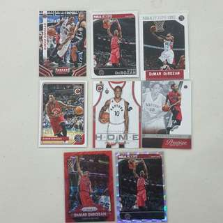 Legit Used DeMar DeRozan Lot Set Of 8 NBA Cards