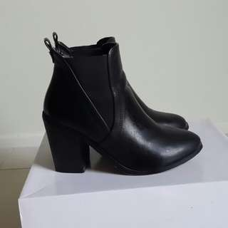 Stylish heeled boots