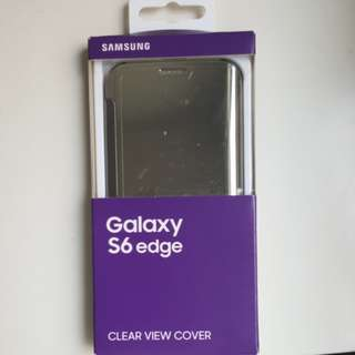 Samsung galaxy s6 edge clear view cover silver 三星原裝套銀色
