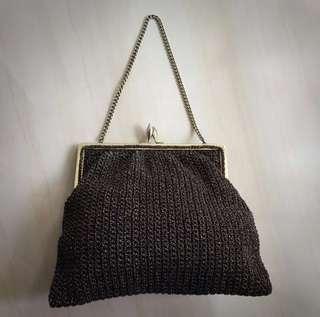 Vintage Bronze Mesh Evening Bag