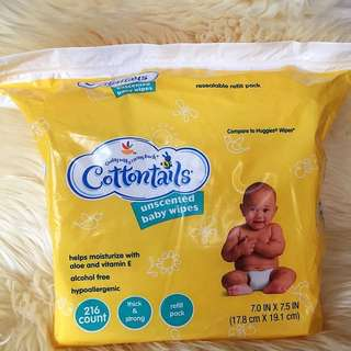 SALE! Cottontails baby wipes