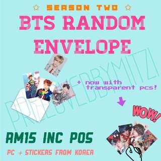 BTS RANDOM ENVELOPE SEASON 2