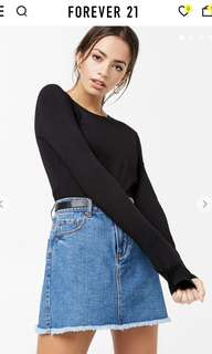 F21 Long sleeve cropped top