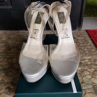 Riccino high heels cat walk transparent strap 38