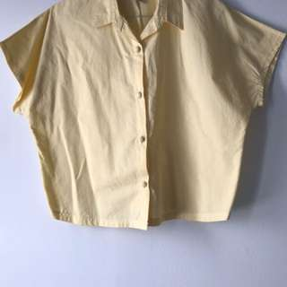 Pastel yellow blouse