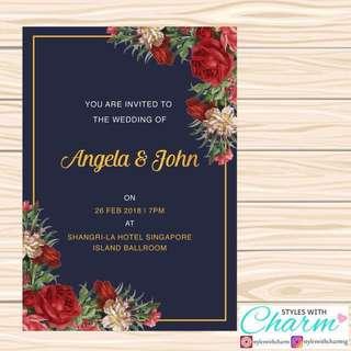 Affordable Wedding Card