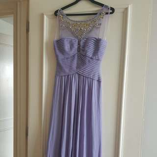 Evening Gown - Romantic Lilac with Crystals