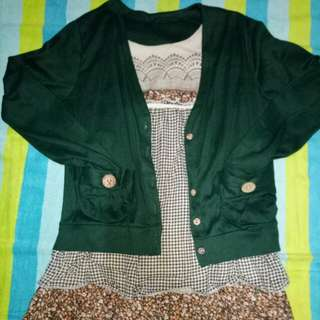 Korean 3/4 sleeve blouse